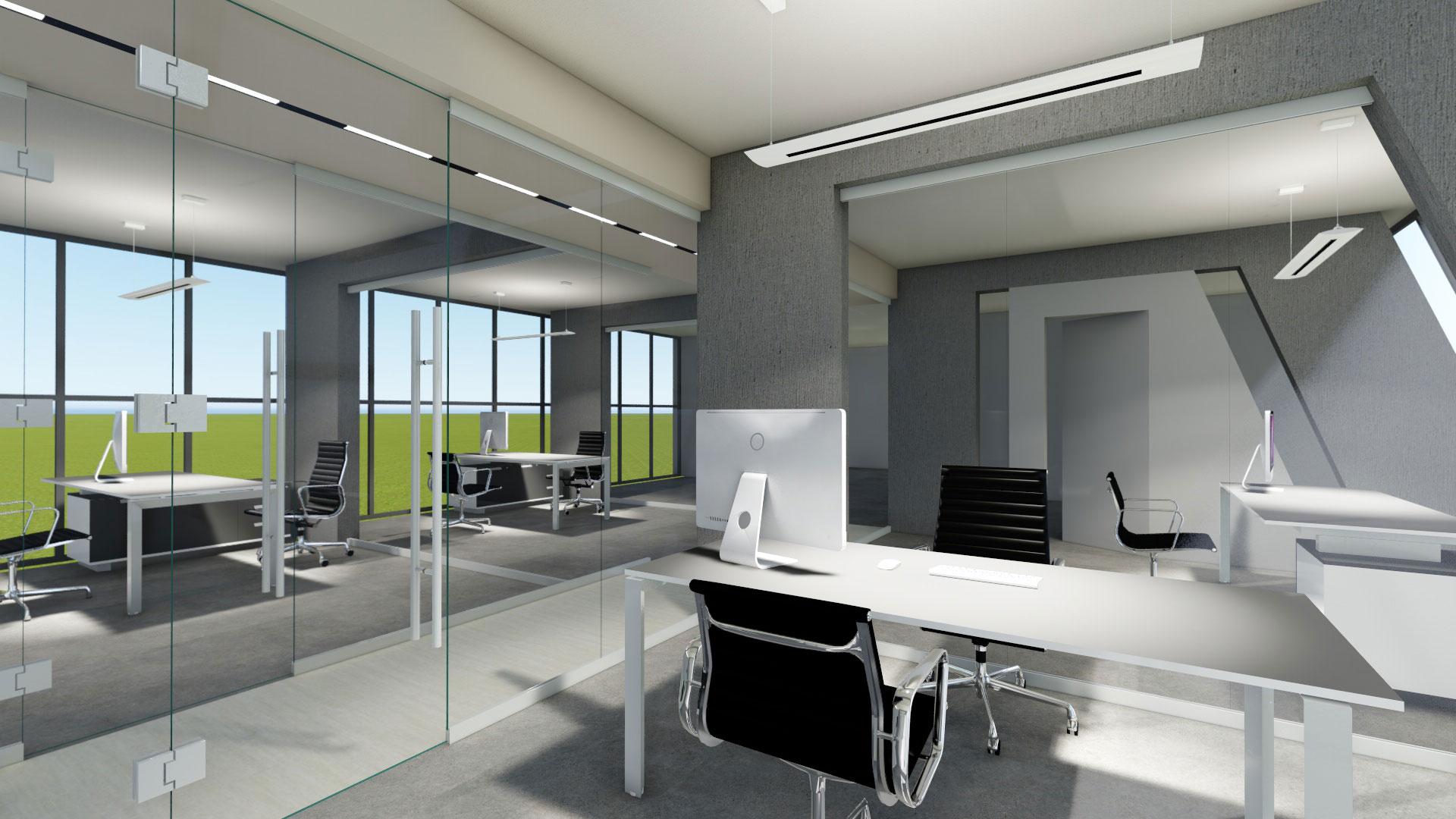 Progetto uffici direzionali cafelab studio di architettura for Allestimento ufficio